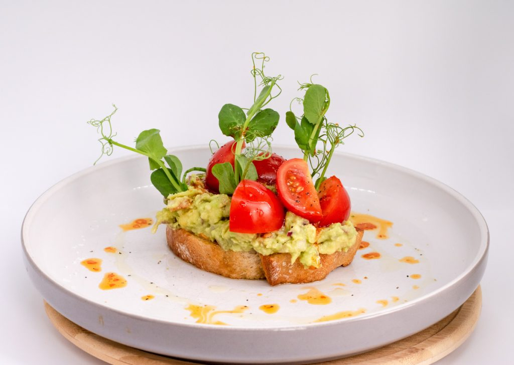 Duke of Wellington, Breakfast Brunch Smashed Avocado Toast Cherry Tomatoes Delicious