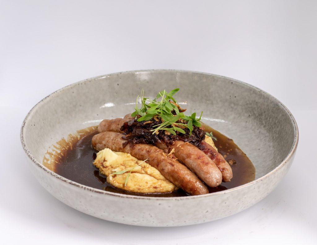 Duke of Wellington, sausage mashed potato gravy gastropub meals