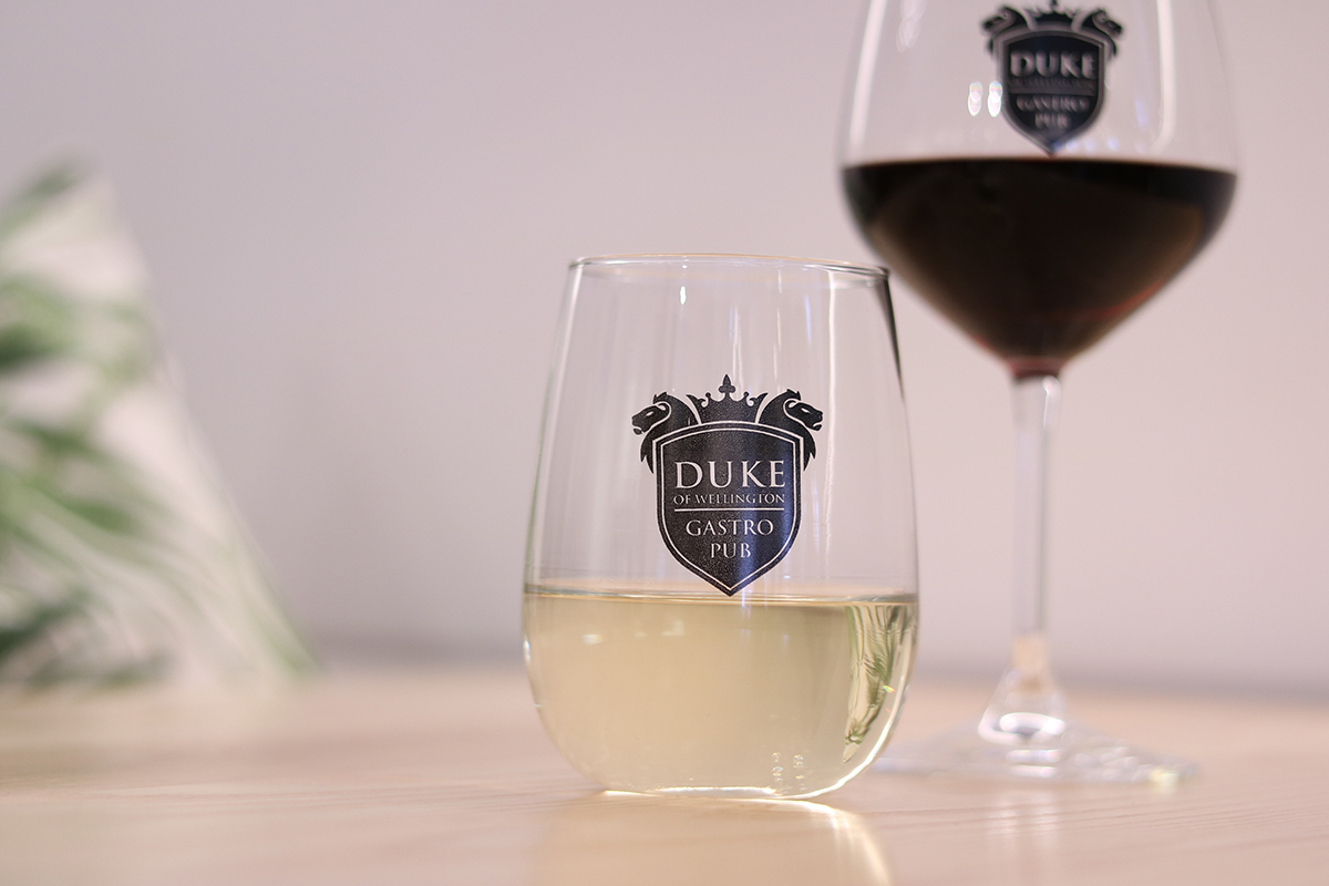 Duke of Wellington Pub Fine Wine Drinks Menu Pinot Gris Merlot Red and White New Zealand Hawkes Bay Malborough